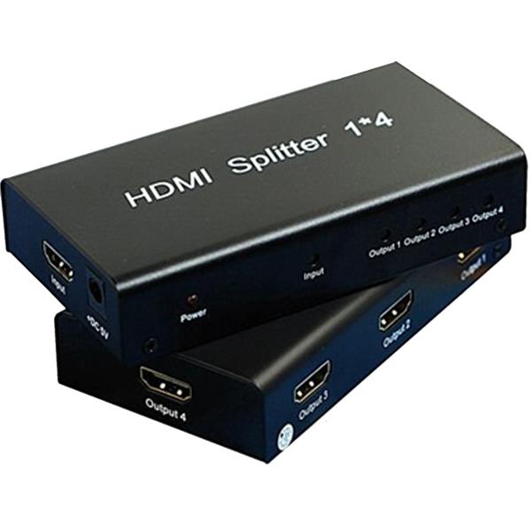 M-TECH 1x4 Port HDMI Splitter 3D Support