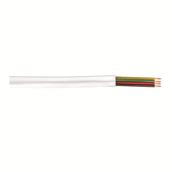 4 lü Yassı Köken Kablo, Beyaz, 100m