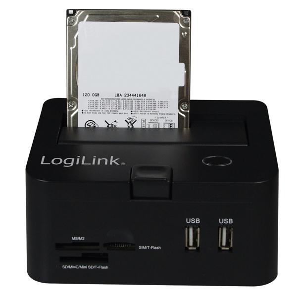 USB2.0 SATA HDD Docking Station, Siyah