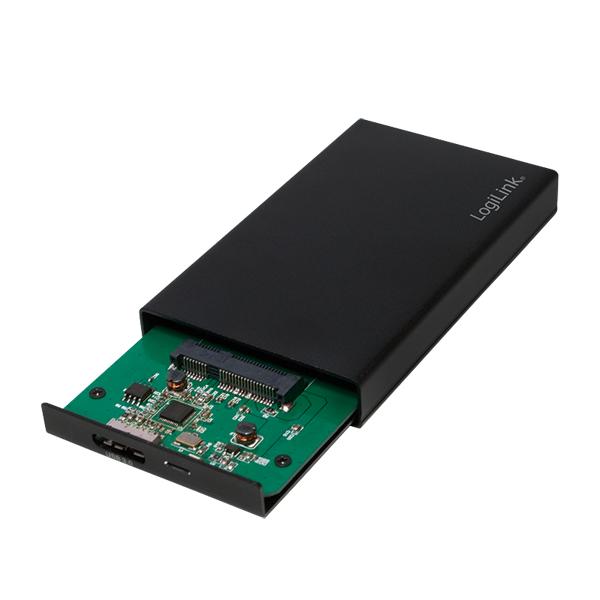 """USB3.0 1.8"""" mSATA 6Gbps için Harici SSD Disk Kutusu, Siyah"""