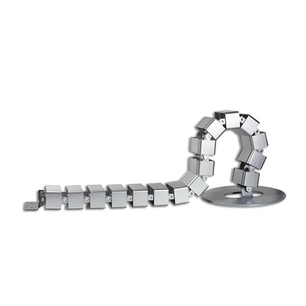 Dikey Kablo Düzenleyici Spiral, 80cm x 68mm, Gümüş