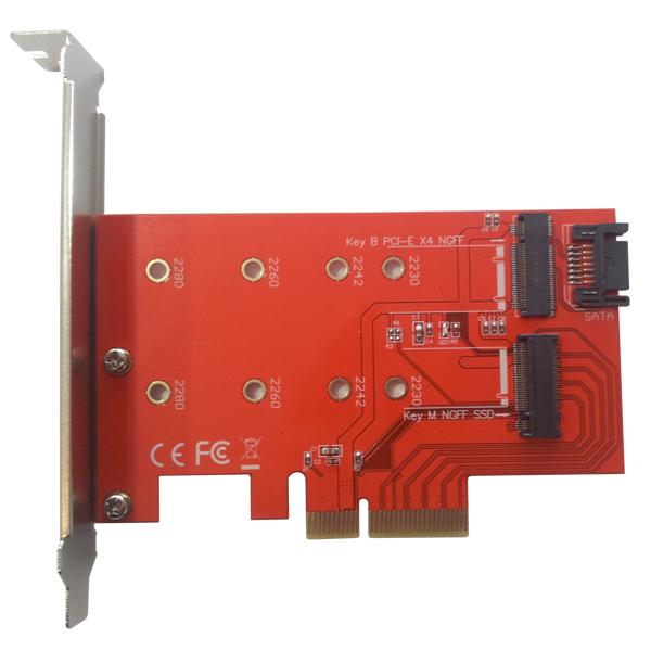 M.2 NGFF B & M Key NVMe Uyumlu PCI Express x4 Kart