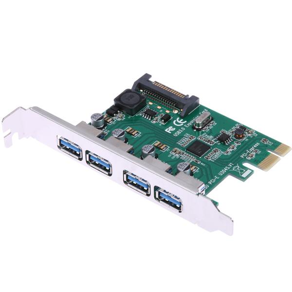 4 Port USB3.0 PCI Express Kart, NEC uPD720201