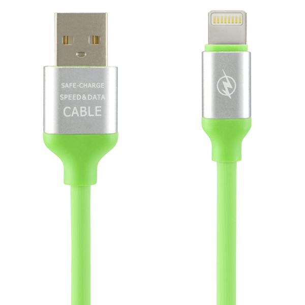 8 pin Lightning iPhone, iPad Data ve Şarj Kablosu, Yeşil