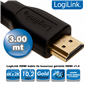 LogiLink CH0038 HDMI High Speed Kablo v1.4 3.0m
