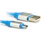 M-TECH MTMUC015M 5 pin Micro USB Data ve Şarj Kablosu, Mavi
